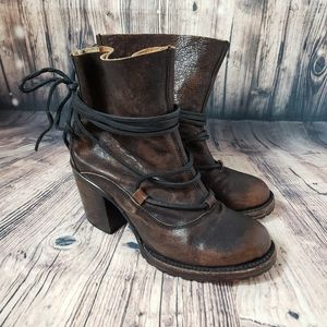 Freebird by Steven Leather Heeled Boots Size 7